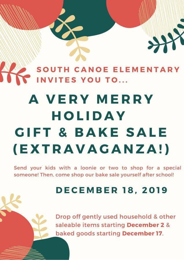 South Canoe Holiday Gift Bake Sale 2019
